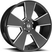 DUB Del Grande S230 Gloss Black Milled Wheels