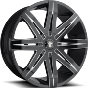DUB Stacks S227 Gloss Black Milled Wheels