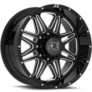 Eagle Series 509 Gloss Black Milled Wheels