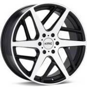 KMC KM699 Two Face Machined Black Wheels