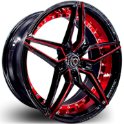 Marquee M.3259 Black and Red Wheels