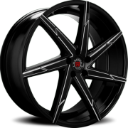 Morder MS-007 Black Machined Wheels