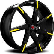 Morder MS-007 Black Wheels with Yellow Tips