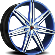 Morder MS-648 Blue Wheels with Chrome Face