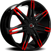 Morder MS-648 Black Wheels with Red Tips