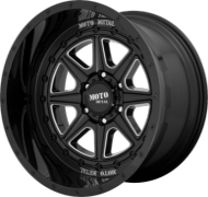 Moto Metal MO801 Phantom Gloss Black Milled Wheels