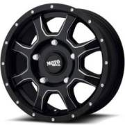 Moto Metal MO970 Euro Van Satin Black Milled