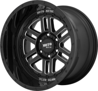 Moto Metal MO800 Deep Six Black Milled Wheels