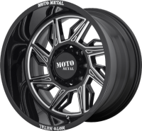 Moto Metal MO997 Hurricane Black Milled Wheels (L)