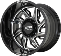 Moto Metal MO997 Hurricane Black Milled Wheels (R)