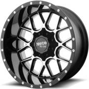 Moto Metal MO986 Siege Gloss Black Machined Wheels