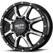 Moto Metal MO995 Front Dually Machine Black Wheels