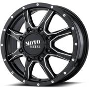 Moto Metal MO995 Dually Front Black Milled Wheels