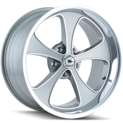 Ridler 645G Grey with Polished Lip Wheels