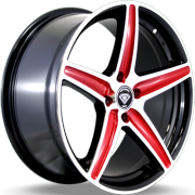 White Diamond W-253 Black and Red Wheels